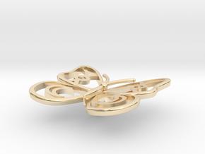 Cute Butterfly in 14k Gold Plated Brass