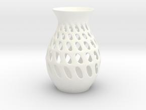 Organic Vase in White Processed Versatile Plastic