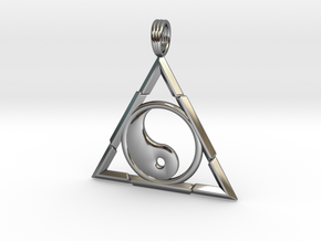 TRINITY YIN-YANG in Fine Detail Polished Silver