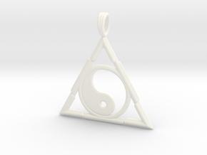 TRINITY YIN-YANG in White Processed Versatile Plastic
