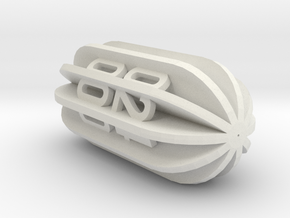 Radial Fin Dice in White Natural Versatile Plastic: d00