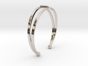 Ø53 Mm Bracelet Elegance Ø2.086 inch XS in Rhodium Plated Brass