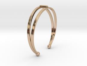 Ø53 Mm Bracelet Elegance Ø2.086 inch XS in 14k Rose Gold Plated Brass