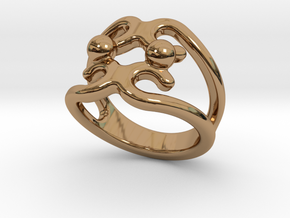 Two Bubbles Ring 23 - Italian Size 23 in Polished Brass