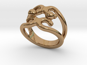 Two Bubbles Ring 24 - Italian Size 24 in Polished Brass