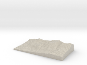 Model of Hunts Peak in Natural Sandstone