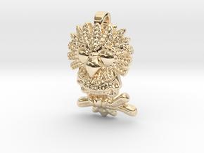 Owl Pendant in 14K Yellow Gold
