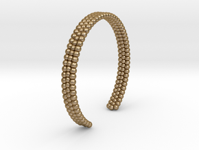 Ø2.677 inch/Ø68 Mm Bracelet L in Polished Gold Steel