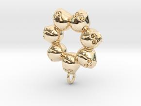 Seven Skull pendant in 14k Gold Plated Brass