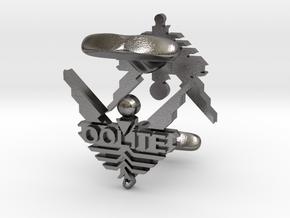 Oolite Cufflinks in Polished Nickel Steel