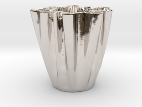 Cloth Cup in Rhodium Plated Brass