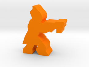 Game Piece, Salamandrian Scientist in Orange Processed Versatile Plastic