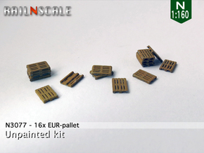 16x EUR-pallet (N 1:160) in Smooth Fine Detail Plastic