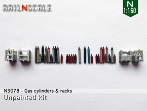 Gas cylinders and racks (N 1:160) in Frosted Ultra Detail