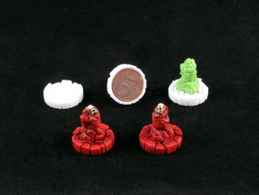 Faction marker base (10 pcs) in White Strong & Flexible Polished