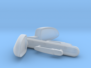 1/ 25 Scale Cobalt SS Door Handles And Mirrors in Smooth Fine Detail Plastic