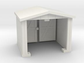 Shack - Opening Doors - HO 87:1 Scale in White Natural Versatile Plastic