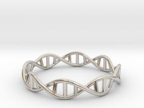 DNA Ring in Rhodium Plated Brass: 8 / 56.75