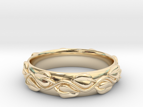 Wedding Band in 14k Gold Plated Brass
