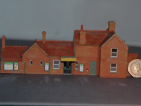 Freshwater (Isle of Wight) Station Building 2mm/ft in Smooth Fine Detail Plastic