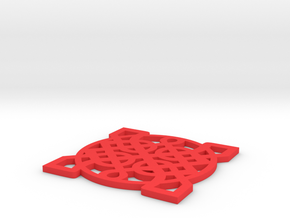 Coaster in Red Processed Versatile Plastic