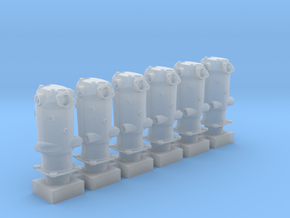1/32 Mercedes D.IIIa Cylinders (hollow) in Smoothest Fine Detail Plastic
