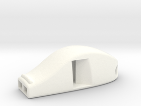 VERY LOUD! Functional Whistle in White Processed Versatile Plastic