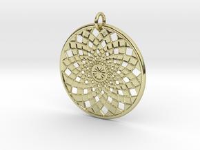 Flower Mandala No 2 in 18k Gold Plated Brass