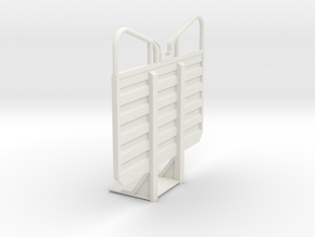 1/32 Waffle pattern cab guard headache rack, plain in White Natural Versatile Plastic