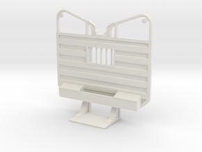 1/25 detailed waffle type cab guard headache rack in White Natural Versatile Plastic