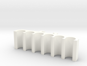 Nerf Dart Holder for Nerf Tactical Rail System in White Processed Versatile Plastic