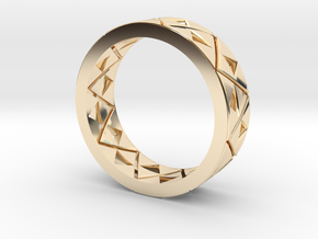 Triforce Ring Size 8 in 14k Gold Plated Brass