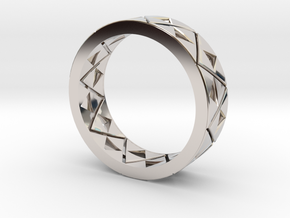 Triforce Ring Size 8 in Rhodium Plated Brass