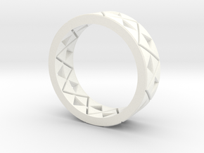 Triforce Ring Size 8 in White Processed Versatile Plastic