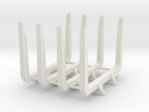 1/16 Short logger log bunks in White Natural Versatile Plastic