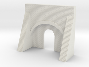 N Gauge Brick Kiln Front in White Natural Versatile Plastic