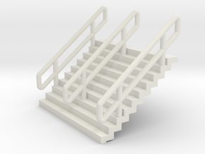N Scale Stairs H12.5mm in White Natural Versatile Plastic
