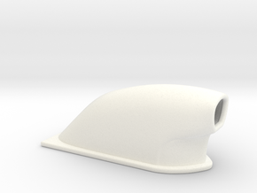 1/43 Small Pro Mod Hood Scoop in White Strong & Flexible Polished