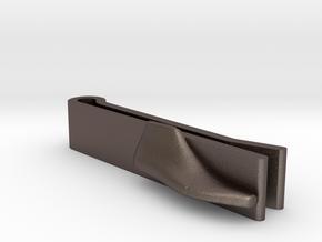 Tie-Clip Shoe Last in Polished Bronzed Silver Steel