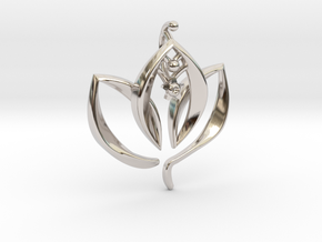 Enlightened Living in Rhodium Plated Brass