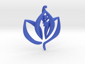 Enlightened Living in Blue Processed Versatile Plastic