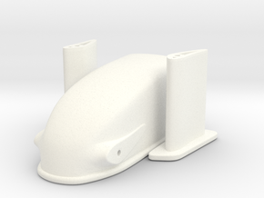 1/25 Dragster Nose in White Processed Versatile Plastic