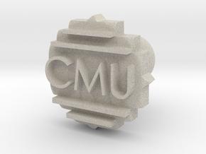 CMU Cufflink in Natural Sandstone