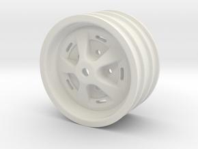 "Range Rover Classic rim 1.9"" for RC4WD 1.9"" 5 Lug  in White Natural Versatile Plastic"