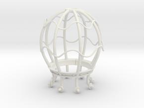 LightBulb Cage  in White Natural Versatile Plastic