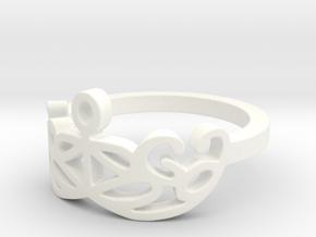 Yoga Glee Design Size 6 in White Processed Versatile Plastic