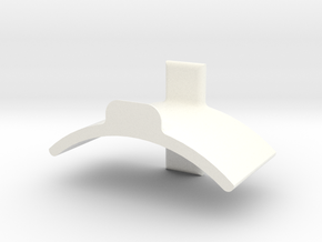 Headphone Hanger (for use with Command Strips) in White Strong & Flexible Polished