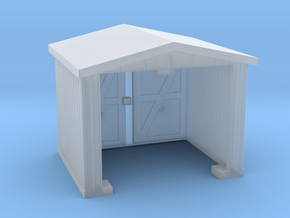Shack - Opening Doors - N 160:1 Scale in Smooth Fine Detail Plastic
