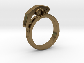 The Gringade - Grenade Ring (Size 8.5) in Polished Bronze