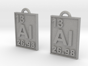 Aluminum Periodic Table Earrings in Aluminum